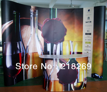 8X8ft(230X230cm) High Quality!!! Magnetic Pop up Stand Banner with POP up Table