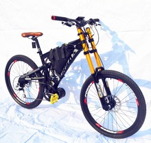 kalosse Mid-motor 1000W 48V electric bike electric mountain bike electric bicycle 26 inch Bafang 10 speed(China)