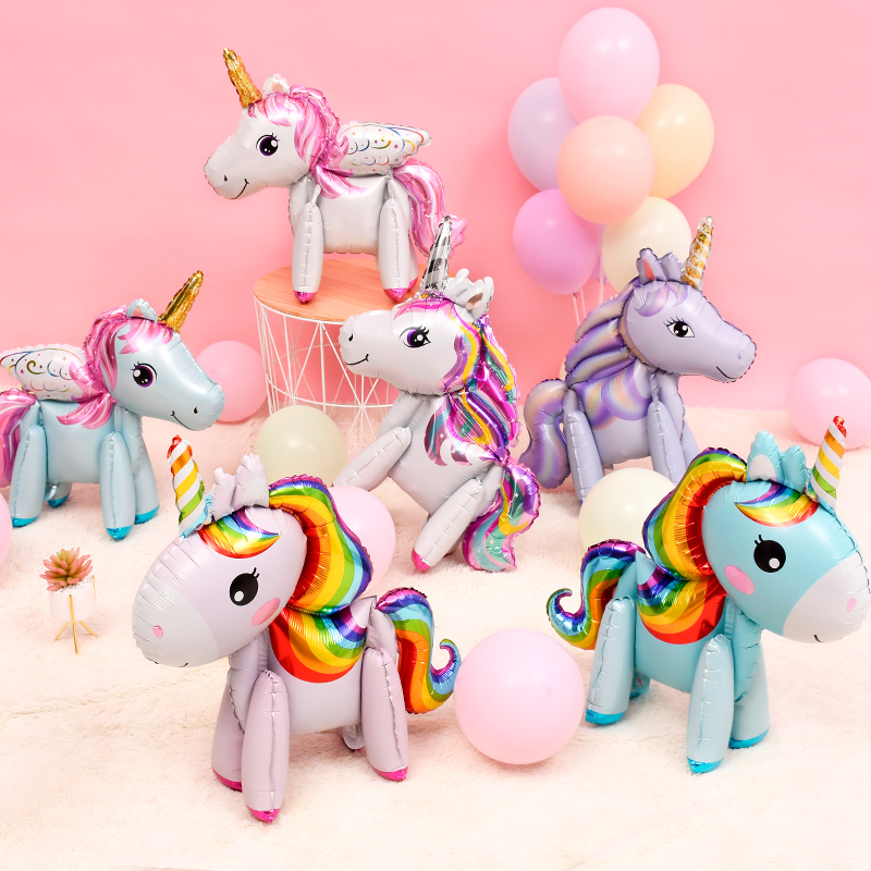 Inflatable Unicorn Stick Birthday Party Fancy Dress Partyware Unicorn Theme