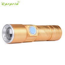 carprie USB Flashlight Light Bag Rechargeable Flashlight Zoomable Lamp Torch L61216