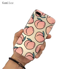 Gumiice 2018 new transparent soft case TPU many peach mobile phone cases Discount for iPhone 7/8 free shipping(China)