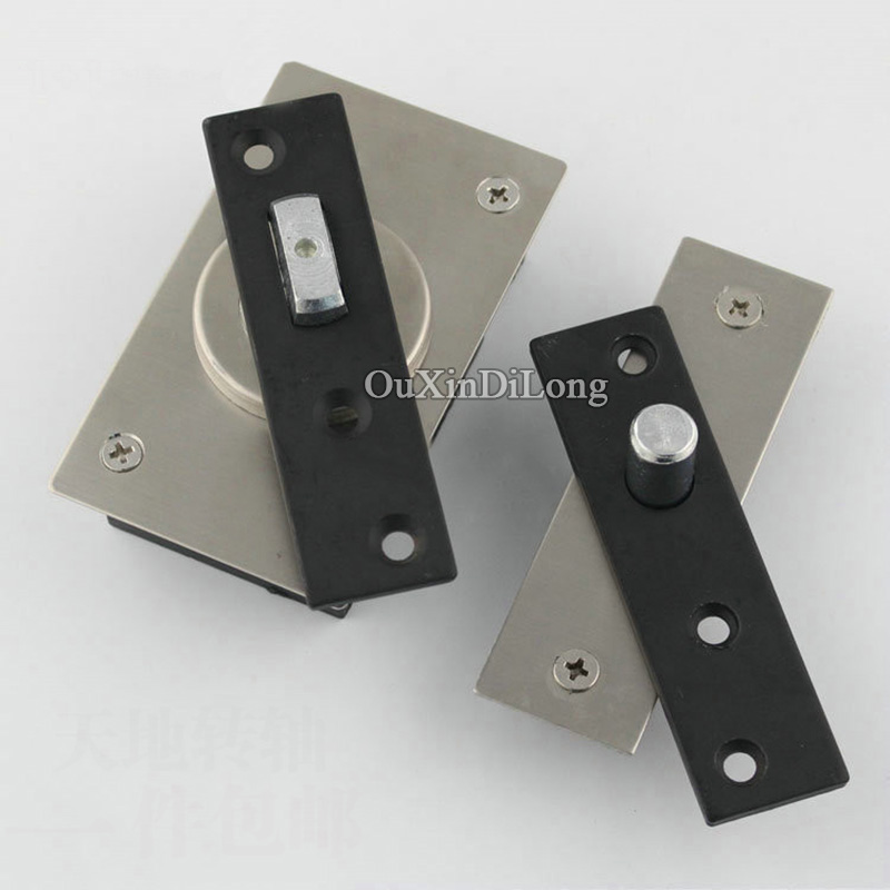 Free Shipping 2PCS Stainless Steel Heavy Duty Pivot Door Hinges 360 Degree Install Up and Down Rotary Hinges Furniture Hardware<br>