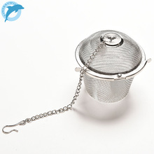 LINSBAYWU Silver Reusable Stainless Mesh Herbal Ball Tea Spice Strainer Teakettle Locking Tea Filter Infuser Spice