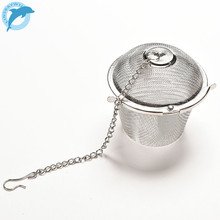 LINSBAYWU Silver Reusable Stainless Mesh Herbal Ball Tea Spice Strainer Teakettle Locking Tea Filter Infuser Spice(China)