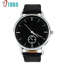 Watches for man Classic Quartz Electronic Analog Leather Strip Wrist Relogio Dropshipping(China)