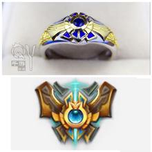 LOL Game Theme Maters Jewelry Challenger Ring Luxury 925 Sterling Silver Ring Champion Medal