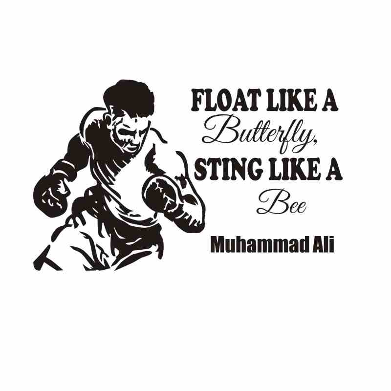 DCTAL Boxing Muhammad Ali Glove Sticker Kick Boxer Play Car Decal Free Combat Posters Vinyl Striker Wall Decals Parede Decor