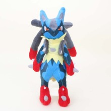28cm Pocket doll Center Mega Lucario XY Stuffed Plush Toy Soft Doll For Children high quality