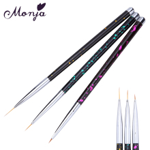 3 Size Polka Dot Style Nail Art Metal Liner Painting Brush Set Gel Polish Tips 3D Line Flower Grids French Image DIY Drawing Pen