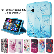For Microsoft Nokia Lumia 535 Case Colorful Pattern Water Tubes Wallet PU Leather Cover for Lumia535 535 Dual SIM Phone Bag