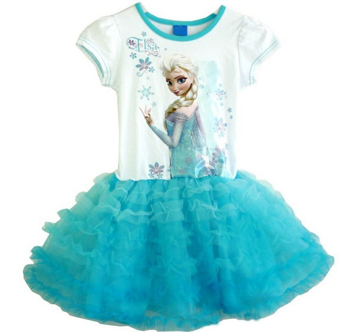 9M-4Y Summer Girls Dresses 2016 Elsa Anna Baby Girls Dress Princess Little Girls Clothes Designer Kids Dress For Girls C50<br><br>Aliexpress