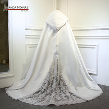 2018 Long Lace Wedding Dress Cape Wedding wrap Wedding Jacket(China)