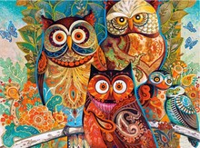 Diamond embroidery 5D DIY Diamond Painting owl Animal Mosaic Square Rhinestone Embroidery Child Puzzle Cross Stitch Gifts