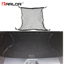 Auto Care 70 x 70cm Universal Car Trunk Luggage Storage Cargo Organiser Nylon Elastic Mesh Net With 4 Plastic Hooks Accessories(China)