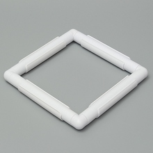oneroom 1Pc Rectangle Shape Plastic Embroidery Frame Cross Stitch Hoop Stand Lap Tool For Home DIY Sewing Craft Accessori(China)