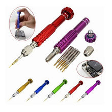 Top Quality 5 in 1 Precision Torx Screwdriver Cellphone Watch Repair Mixed Set Tool Kit For iPhone 4 5 6 6s Samsung Galaxy(China)