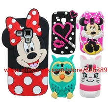 Silicone Case For Samsung Galaxy S3 mini 3D Minnie Lips Owl Sulley Stitch Cell Phone Back Cases Cover For Samsung S3 mini i8190