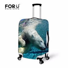 Dolphin Print Anti-dust Suitcase Cover,Large Size Luggage Covers Apply to 18-28 Inch Trolley Case,Fashion Travel Accessory