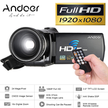 "Andoer HDV-V7 3.0"" 1080P Digital Video Camera Full HD Camcorder Max 24 Mega Pixel 16x Digital Zoom w/ 37mm 0.45x Wide Angle Lens(China)"