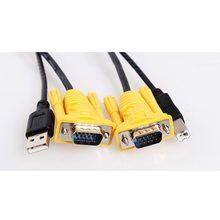 MT-VIKI Maituo Original KVM Switch Cable VGA + USB B to VGA + USB A Male to Male 1.5m 3m and 5m, 5ft 10ft 15ft(China)