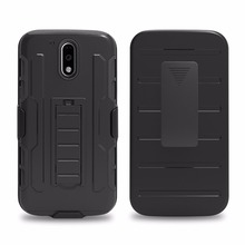 G4 Play G4 Plus Armor Holster Cover Stand Z Play Hybrid Case for Moto G G2 G3 X X2 X3 X Play E2 Z Force Droid Swivel Belt Clip(China)