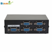Binmer Hot Selling Mini Portable 4 Port VGA Switch Box Monitor 4 In 1 Out LCD PC TV Share Adapter Connector Monitor Gift Mar 28