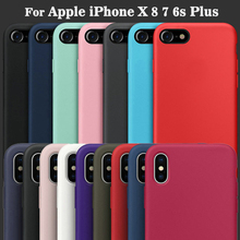 Have LOGO Official Original Silicone Case for Apple iPhone X 8 Plus Phone Cover For iPhone 7 6 6s Plus Case With Retail Box(China)