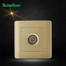 luxury 86 type champagne voice light operated transmit acoustic light activated delay wall switch