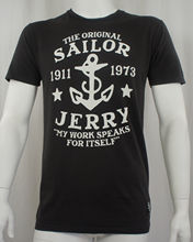 SAILOR JERRY Tattoo My Work Speaks Anchor Logo Slim Fit T-Shirt S -3XL NEW Print Tees Short Sleeve O-Neck T Shirt