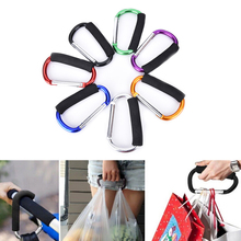 1Pc Outdoor Multi-function EDC Tool Aluminum Climbing Carabiner Hook Gear Multi Tool Buckle Rock Lock With Sponge(China)