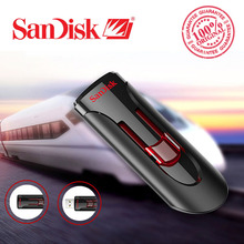 100% Original SanDisk CZ600 USB Flash Drive 32GB 64GB 16GB 128GB Super Speed USB 3.0 Memory Stick USB 3.0 Pen Drives 32G