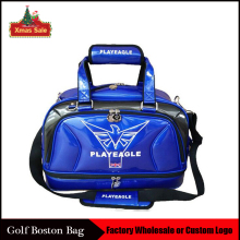 New PLAYEAGLE Waterpoof PU Leather Golf Boston Bag Golf Clothing Bag Large Capacity Travel Bag with Shoes Pocket OEM Logo(China)