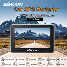 KKmoon 4.3 inch Car Portable GPS Navigation 128M 8GB FM Video Player Car Navigator with Back Support +Free Map HD Touch Screen(China)