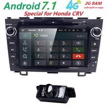 "8""Android 7.1 HD 1024*600 Car DVD Player Radio For Honda CRV 2007 2008 2009 2010 2011 4G WIFI GPS Navigation Head Unit car audio(China)"