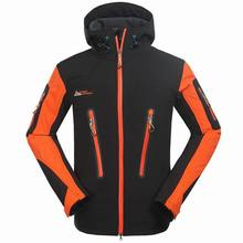 Winter outdoor men soft shell clothing brand waterproof windproof breathable warm ski suits mountaineering camping hiking jacket