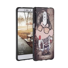 For huawei honor 6x case 3D Relief painting rear back cover tpu Silicone pattern tiger cartoon honor 6 plus mate 9 lite case