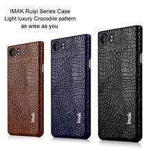 IMAK Ruiyi Series Luxury Crocodile Skin Leather Case for BlackBerry KEYone Hard PC Back Cover for BlackBerry Mercury Cases Brand