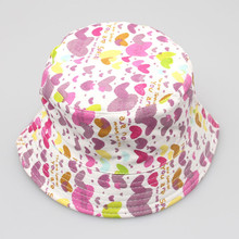 2018 New Fashion Toddler Kids Baby Boys Girls Floral Pattern Bucket Hats Sun Helmet Cap soft Comfortable Spring/Summer accessory(China)