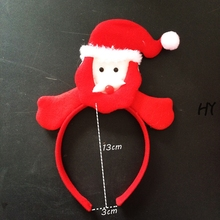 1 Pcs/lot New Cute Lovely Christmas Hairbands Red Hairbands Headband Kids Children Christmas Hair Accessories