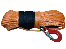 10mm x 40m synthetic winch rope with hook uhmwpe fiber for off-road/4wd/atv/utv(China)
