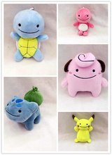 Super Kawaii 13CM Popular 6Designs- Stuffed Plush Toy Doll , Pikachu toy , Bulbasaur , Squirtle Etc. keychain Plush Toy Doll(China)
