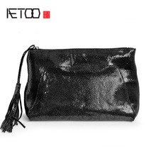AETOO CThe new leather ladies handbag package french bag leather handbag bag(China)