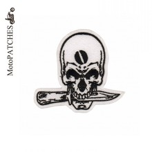 Knife Skull Harley Rider DIY Personalized Embroidered Iron On Motorcycle Patches
