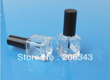 15ml empty glass bottle fpr  nail polish / enamel oil / art nail container/ art nail polish cosmetic packing brush bottle