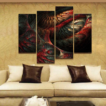 Fractal Abstract Red Yellow Light Blue Wall Art Painting Pictures Print On Canvas Abstract The Picture For Home Decoration(China)