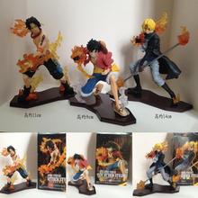 Luffy & Sabo & Ace Attack Styling One Piece anime action figure 3 pcs/set collection Japanese cartoon PVC with box T7532