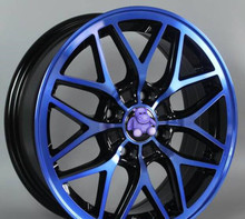 Yellow Blue Red 14x6.0 4x100 Car Aluminum Alloy Wheel Rims(China)