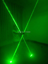 stage laser show Mini Dual Direction Green Laser Sword For Laser Show 532nm 200mW Double-Headed Wide Beam Laser Party Supplies(China)