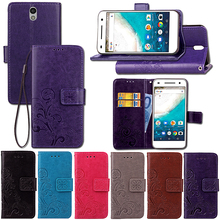 "Flip PU Leather & Soft Silicone Wallet Holster Case For Sharp S1 / Sharp Android One S1 5"" Case With Card Holder And Lanyard(China)"
