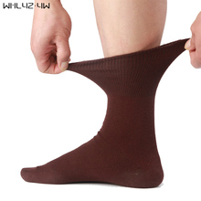 WHLYZ YW 5 pairs/lot men socks cotton long good quality business harajuku Diabetic fluffy socks meias masculino calcetines(China)